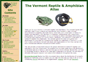 [Image as Link: screenshot of the Vermont Herp Atlas website, May 2007]