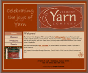 [Image as Link: screenshot of Vermont Yarn Company site, 2005.]